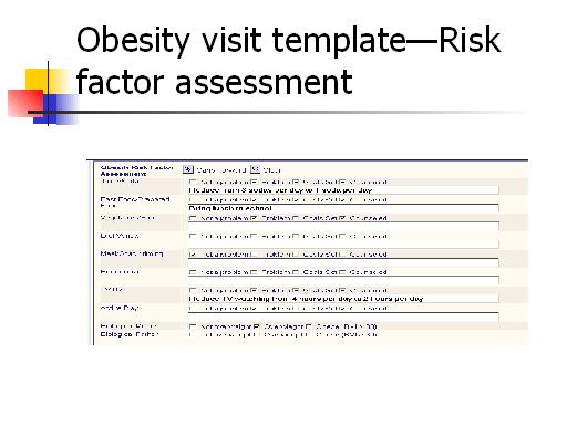 Questionnaire Template For Children Obesity visit template-risk
