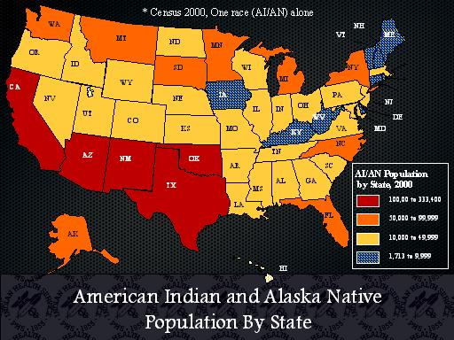 American Indian And Alaska Native Population By State Slide Presentation From The Ahrq 2007