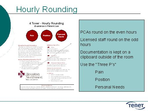 Hourly Rounding: Slide Presentation from the AHRQ 2007 Annual ...