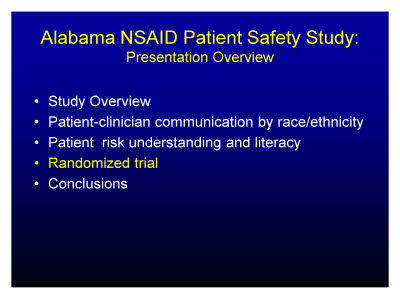 Slide 20. Alabama NSAID Patient Safety Study: Presentation Overview