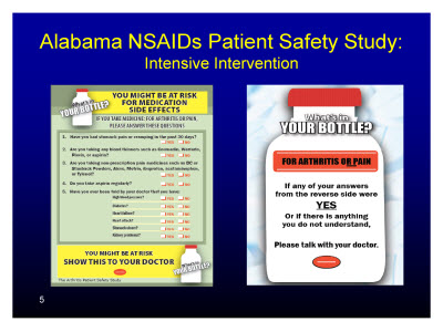 Slide 5. Alabama NSAIDs Patient Safety Study: Intensive Intervention