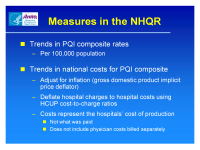 Slide 6. Measures in the NHQR