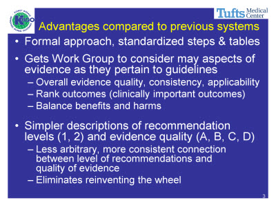 Slide 3. Advantages compared to previous systems