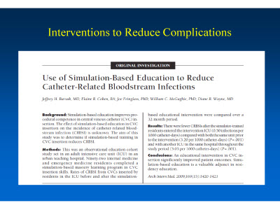 Slide 23. Interventions to Reduce Complications