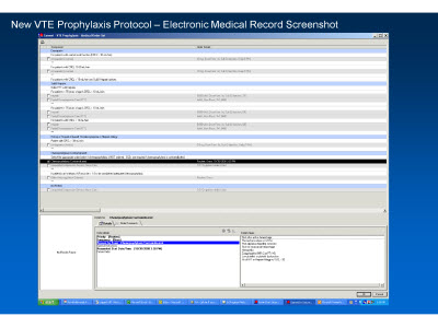 Slide 25. New VTE Prophylaxis Protocol - Electronic Medical Record Screenshot