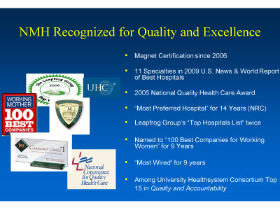 Slide 4. NMH Recognized for Quality and Excellence