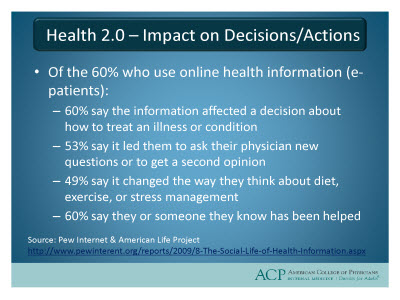 Slide 12. Health 2.0 - Impact on Decisions/Actions