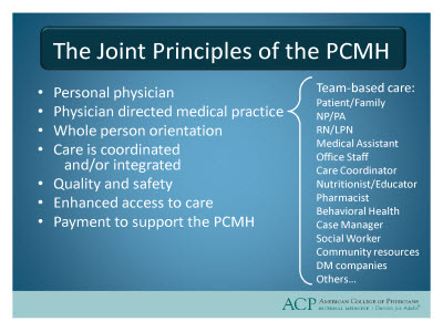 Patient centered medical home model definition
