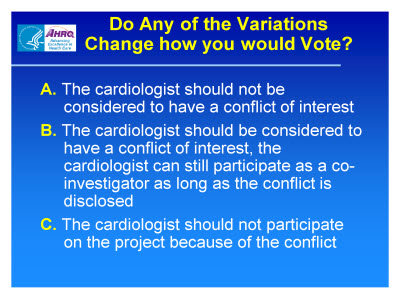 Slide 13. Do Any of the Variations Change How You Would Vote?