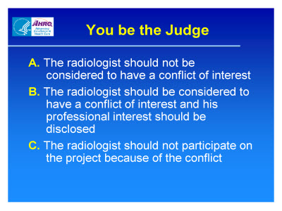 Slide 17. You be the Judge