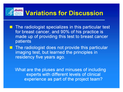 Slide 18. Variations for Discussion