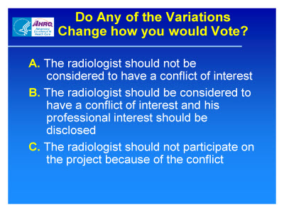 Slide 19. Do Any of the Variations Change How You Would Vote?
