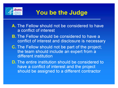 Slide 24. You be the Judge