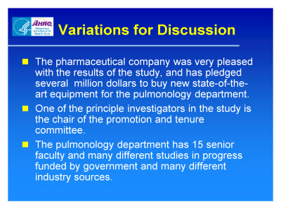 Slide 25. Variations for Discussion