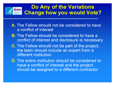 Slide 26. Do Any of the Variations Change How You Would Vote?