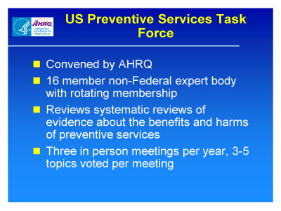 Slide 3. US Preventive Services Task Force