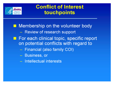 Slide 4. Conflict of Interest Touchpoints