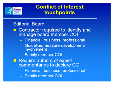Slide 6. Conflict of Interest Touchpoints
