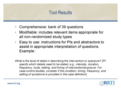 Slide 11. Tool Results