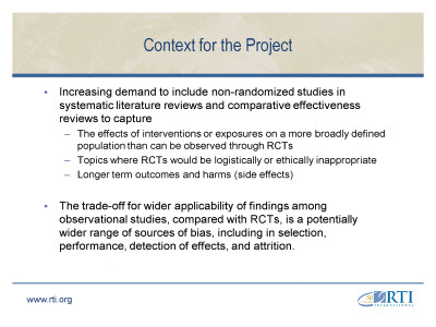 Slide 3. Context for the Project