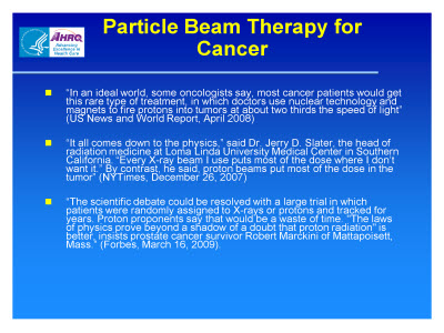 Slide 13. Particle Beam Therapy for Cancer