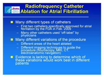 Slide 15. Radiofrequency Catheter Ablation for Atrial Fibrillation