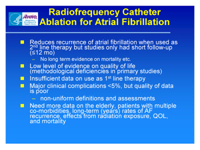 Slide 16. Radiofrequency Catheter Ablation for Atrial Fibrillation