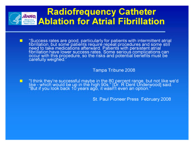 Slide 17. Radiofrequency Catheter Ablation for Atrial Fibrillation