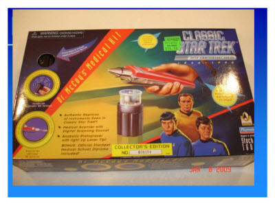 Slide 2. A child's toy version of Dr. McCoy's Medical Kit from Star Trek
