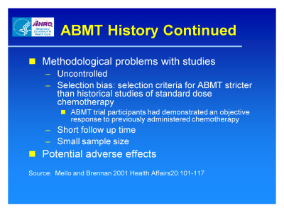 Slide 6. ABMT History Continued