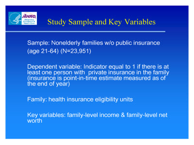 Slide 5. Study Sample and Key Variables