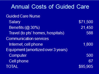 Slide 19. Annual Costs of Guided Care
