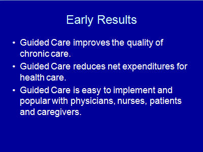 Slide 21. Early Results