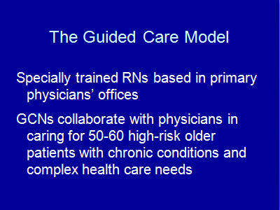 Slide 8. The Guided Care Model