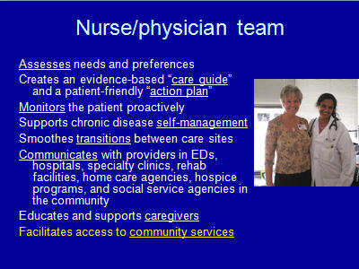 Slide 9. Nurse/Physician Team