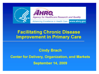 Slide 1. Facilitating Chronic Disease Improvement in Primary Care