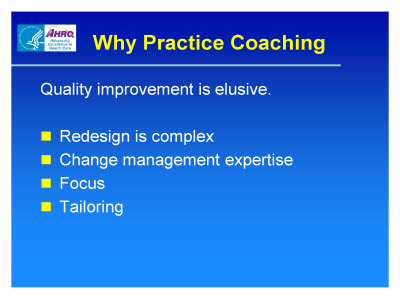 Slide 2. Why Practice Coaching