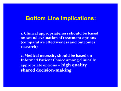 Slide 19. Bottom Line Implications: