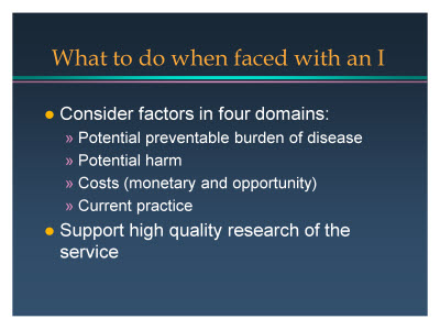 Slide 11. What to do when faced with an I