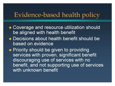 Slide 12. Evidence-based health policy