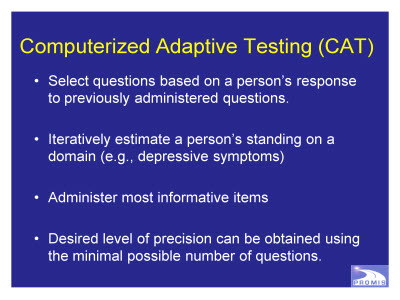 Slide 16. Computerized Adaptive Testing (CAT)