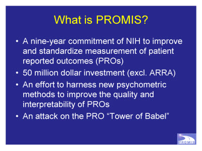 Slide 2. What is PROMIS?