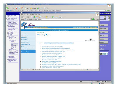 Slide 15. Screen Capture of the Browse Topic screen