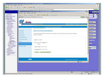 Slide 16. Screen Capture of the Search for Recommendation screen
