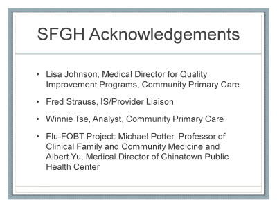 Slide 2. SFGH Acknowledgements