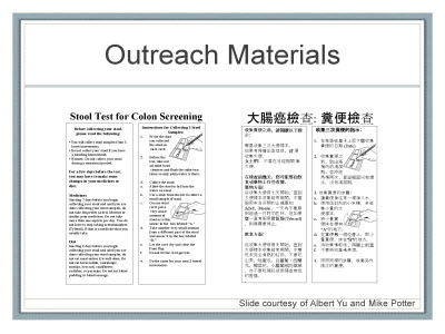 Slide 22. Outreach Materials