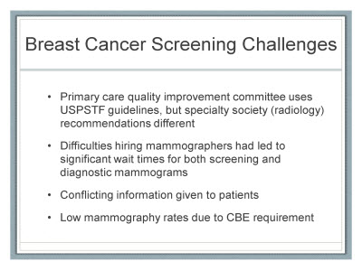 Slide 26. Breast Cancer Screening Challenges