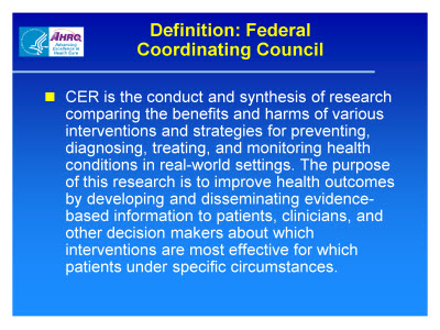 Slide 14. Definition: Federal Coordinating Council
