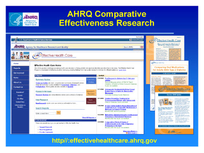 Slide 9. AHRQ Comparative  Effectiveness Research