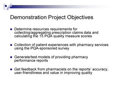The Pharmacist S Role In Quality A Pqa Demonstration